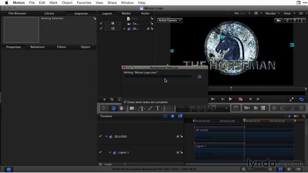 Creating a movie trailer title in Motion, part 4: Final Cut Pro X Guru: Titles and Effects