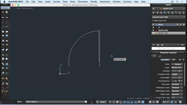 Creating a standard block: Using Dynamic Blocks in AutoCAD for Mac