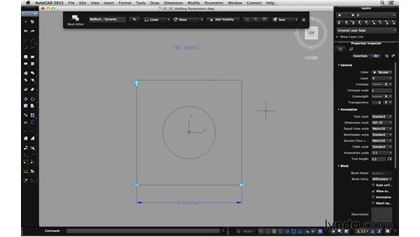 Adding parameters: Using Dynamic Blocks in AutoCAD for Mac