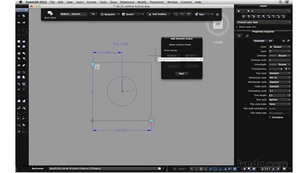 Adding actions to parameters: Using Dynamic Blocks in AutoCAD for Mac