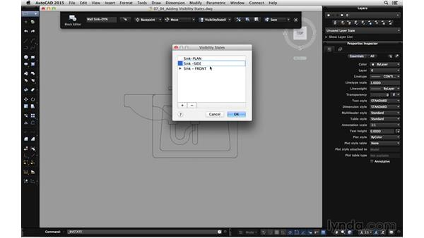 Adding visibility states: Using Dynamic Blocks in AutoCAD for Mac