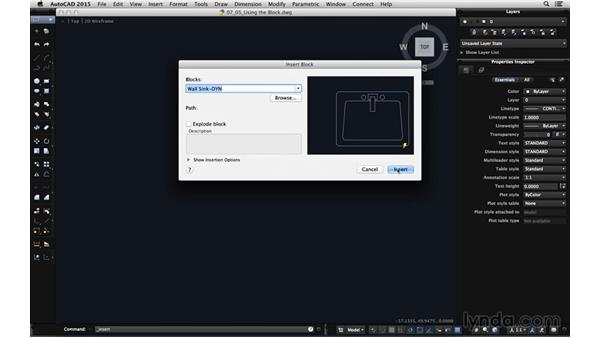 Using the wall sink block: Using Dynamic Blocks in AutoCAD for Mac