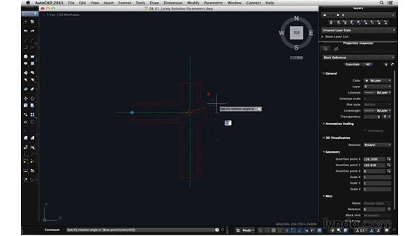 Using rotation parameters: Using Dynamic Blocks in AutoCAD for Mac