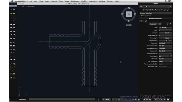 Using the valve block: Using Dynamic Blocks in AutoCAD for Mac