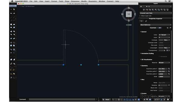 Using a dynamic door block: Using Dynamic Blocks in AutoCAD for Mac