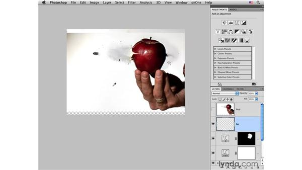 Cleaning up the background: Photoshop CS4 for Photographers: Creative Effects