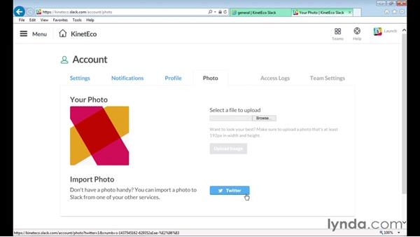 Editing your profile: Up and Running with Slack