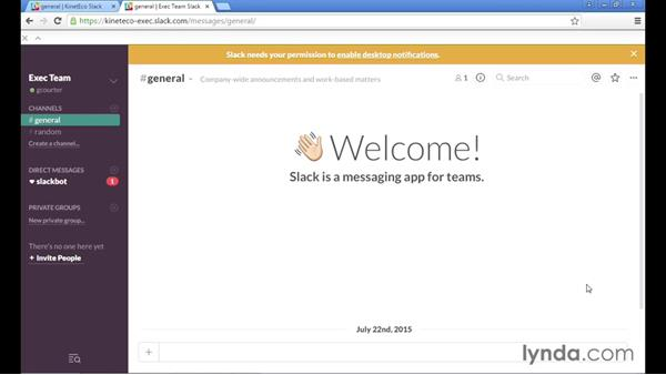 Getting notifications from Slack: Up and Running with Slack