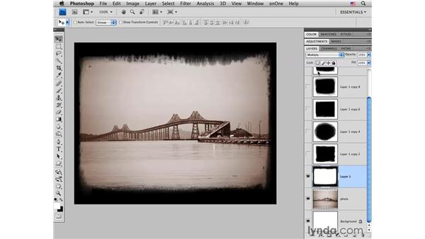 Using sample frames: Photoshop CS4 for Photographers: Creative Effects