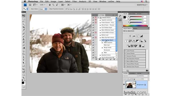 Introduction to Photoshop actions: Photoshop CS4 for Photographers: Creative Effects