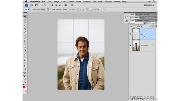 Using rule-of-thirds actions: Photoshop CS4 for Photographers: Creative Effects