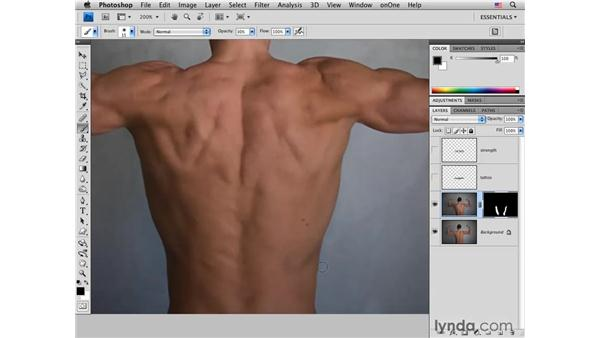 Enhancing muscles: Photoshop CS4 for Photographers: Creative Effects