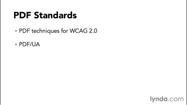 Accessibility standards: Creating Accessible PDFs with Acrobat DC