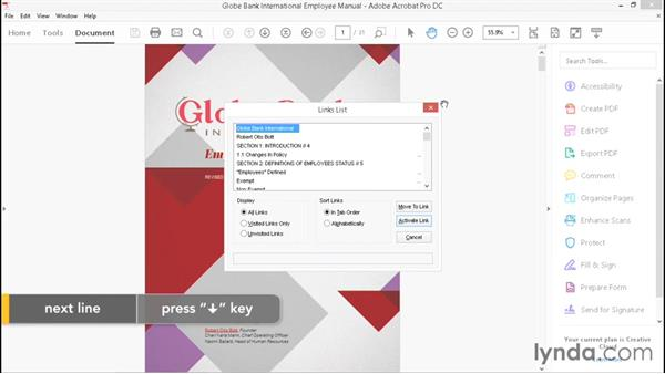 Demonstrating the experience using the JAWS PDF reader: Creating Accessible PDFs with Acrobat DC