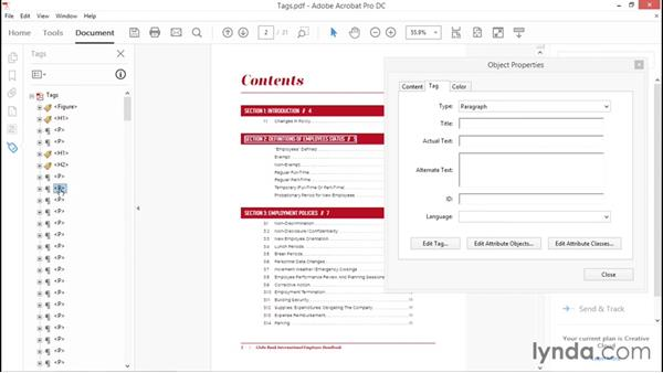 Using the Tags pane: Creating Accessible PDFs with Acrobat DC