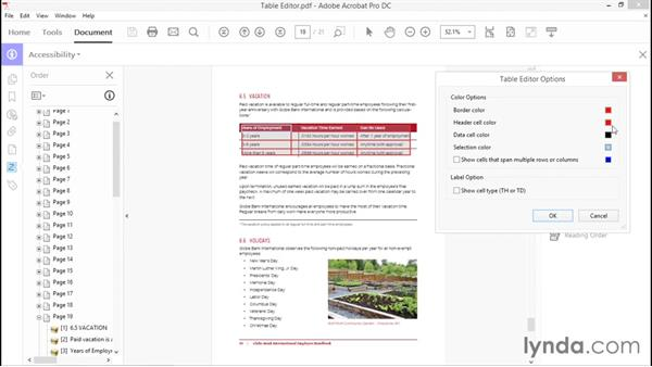 Using the Table Editor: Creating Accessible PDFs with Acrobat DC