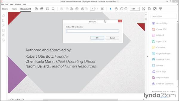 Creating hyperlinks: Creating Accessible PDFs with Acrobat DC