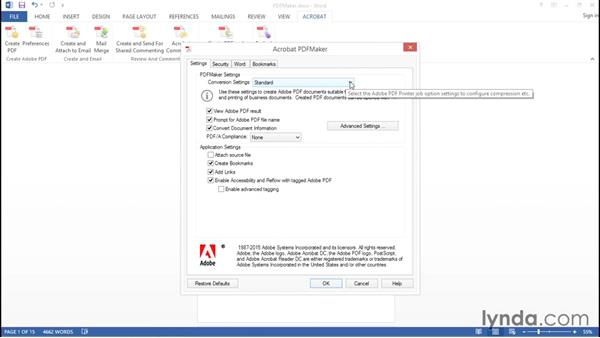 Using PDFMaker (Windows Only): Creating Accessible PDFs with Acrobat DC