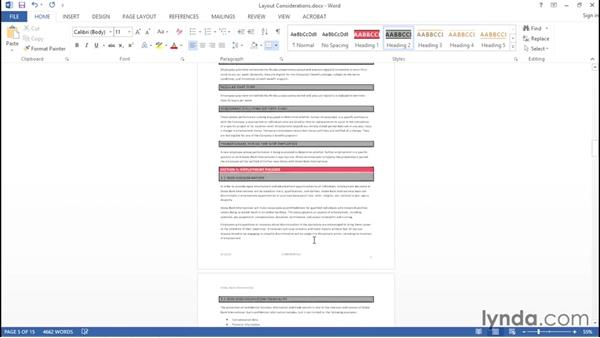 Considering layout options: Creating Accessible PDFs with Acrobat DC