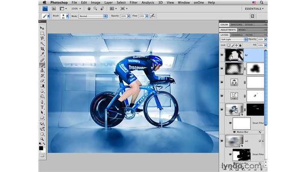 Darkening a background: Photoshop CS4 for Photographers: Creative Effects