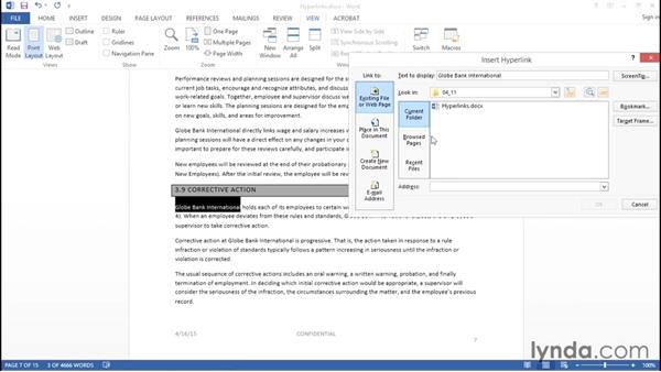 Adding hyperlinks: Creating Accessible PDFs with Acrobat DC