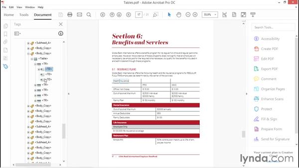 Working with tables in InDesign: Creating Accessible PDFs with Acrobat DC