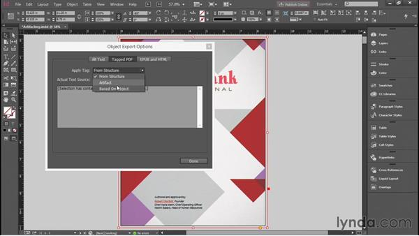 Artifacting objects in InDesign: Creating Accessible PDFs with Acrobat DC