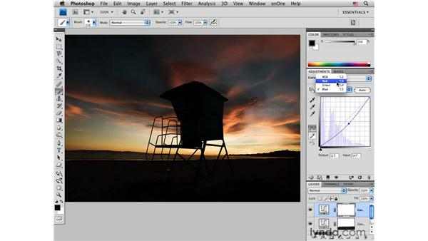 Enhancing sunset colors pt. 1: Curves: Photoshop CS4 for Photographers: Creative Color