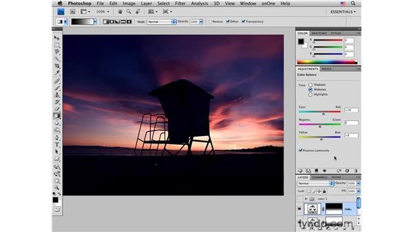 Enhancing sunset colors pt. 2: Color Balance: Photoshop CS4 for Photographers: Creative Color