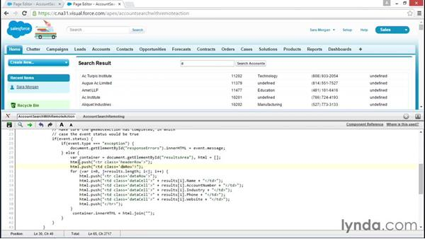 Solution: Rewrite page to include header row: Improving Visualforce Performance