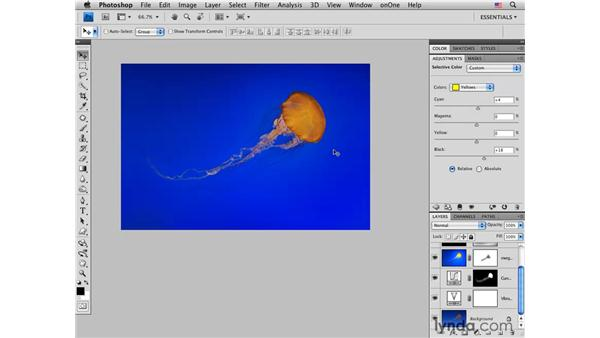 Jellyfish pt. 3: Integrating tone, color, and creativity : Photoshop CS4 for Photographers: Creative Color