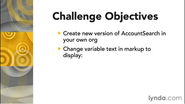 Challenge: Change variable text in markup: Improving Visualforce Performance