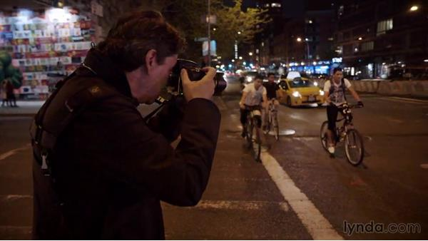 Panning with a moving subject: Street Photography: The City at Night