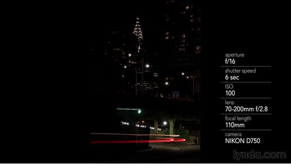 Shooting city night-light trails