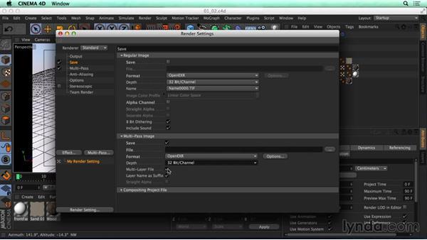 Render settings: CINEMA 4D Rendering Tips for NUKE
