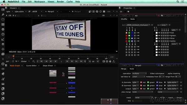 Compositing the shot: CINEMA 4D Rendering Tips for NUKE