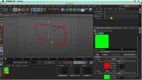 Using MoGraph to create twinkling lights: CINEMA 4D Rendering Tips for NUKE