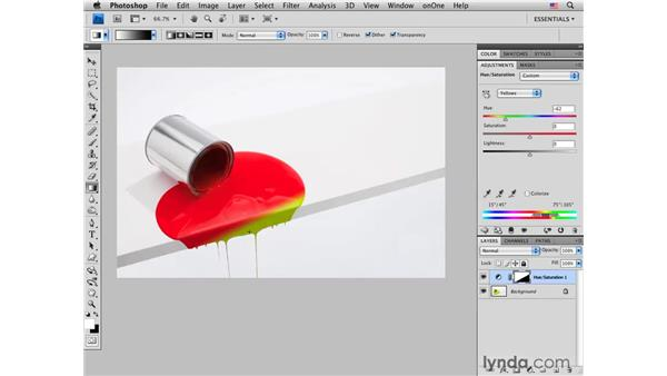 Using Hue/Saturation to change color: Photoshop CS4 for Photographers: Creative Color