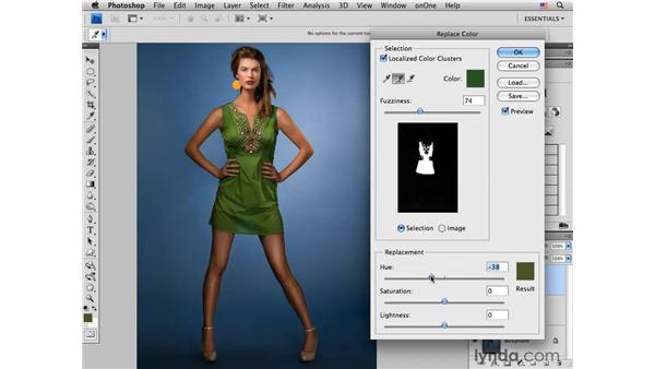 Replacing color with the Replace Color tool: Photoshop CS4 for Photographers: Creative Color