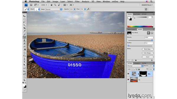 Changing the color of an old fishing boat: Photoshop CS4 for Photographers: Creative Color