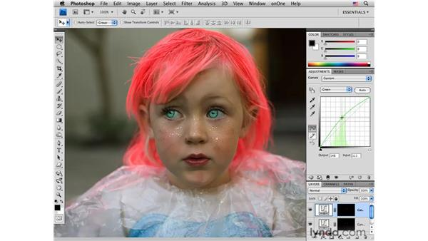 Enhancing and changing eye color : Photoshop CS4 for Photographers: Creative Color