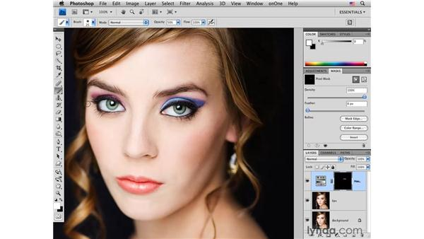 Changing makeup color in a fashion portrait: Photoshop CS4 for Photographers: Creative Color