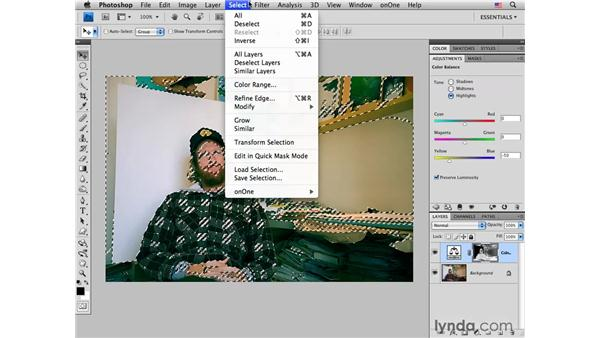 Using Color Balance to cross process: Photoshop CS4 for Photographers: Creative Color