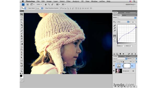 Using Curves RGB channels to cross process: Photoshop CS4 for Photographers: Creative Color