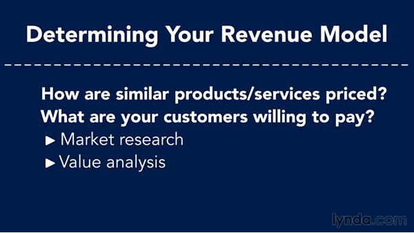 Determining your revenue model: Creating a Business Plan