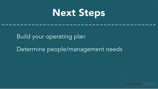 Next steps: Creating a Business Plan