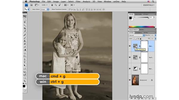 Adding a sepia tone with Hue/Saturation and Soft Light: Photoshop CS4 for Photographers: Creative Color