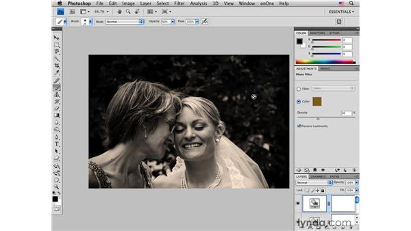Improving tone and adding subtle sepia effects: Photoshop CS4 for Photographers: Creative Color