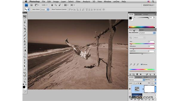 Beach swing pt. 1: Creating a bleached contrast effect: Photoshop CS4 for Photographers: Creative Color