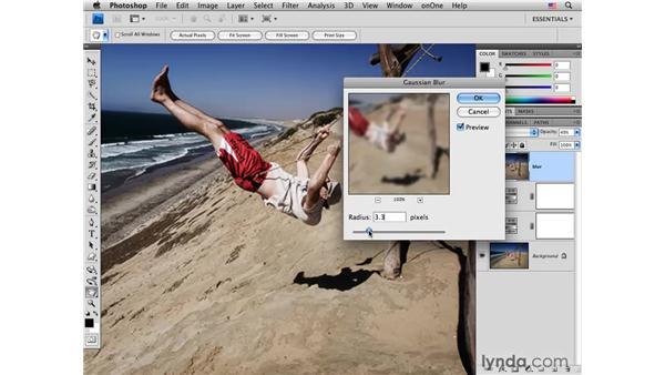 Beach swing pt. 2: Adding glow: Photoshop CS4 for Photographers: Creative Color